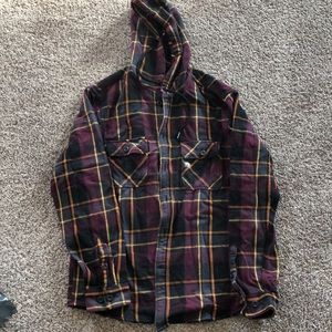 NWT Mens hooded flannel